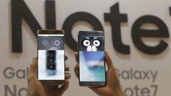 41ff9b7b0db Samsung anunció este viernes que suspende la venta de su smartphone Galaxy  Note 7 tras detectar que las baterías de algunos dispositivos explotan  durante la ...