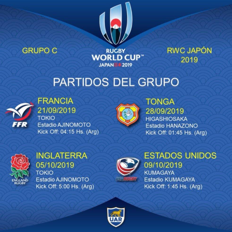 Calendario Mundial Rugby Japon 2019.Mundial De Rugby 2019 Se Sorteo El Fixture Y Los Pumas Ya