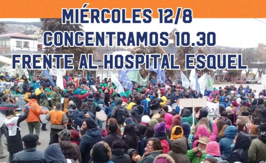 Trabajadores de la salud se movilizan por Esquel